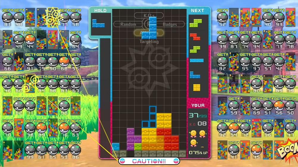 Tetris 99 × Pokémon Sword & Shield