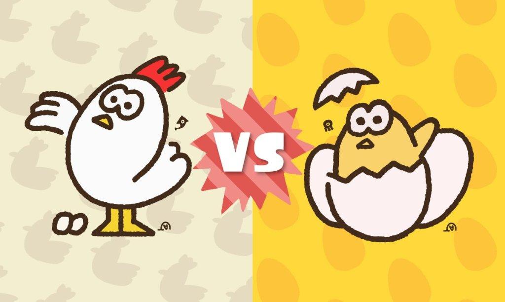 Chicken vs. Egg Splatfest