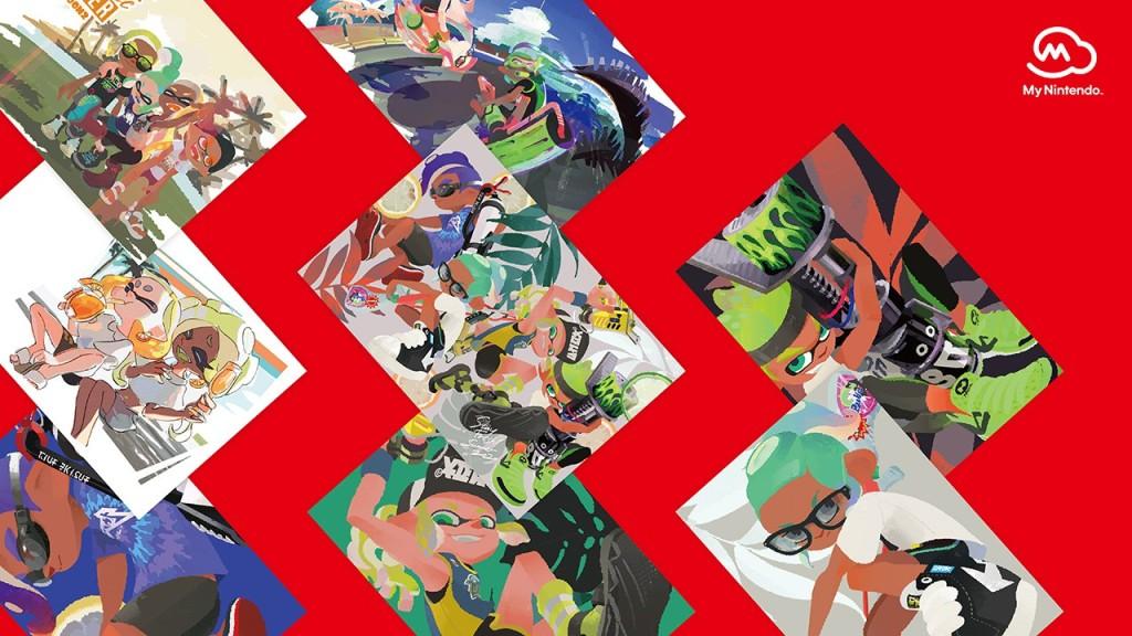 Splatoon 2 Ikasu Summer Postcard Collection