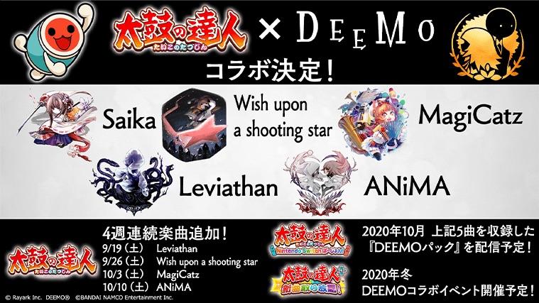 Taiko no Tatsujin Nintendo Switch Version! × DEEMO