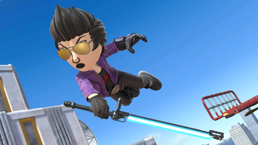 Travis Touchdown Mii Fighter costume