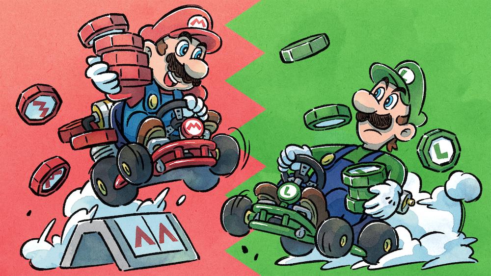 Team Mario vs Team Luigi