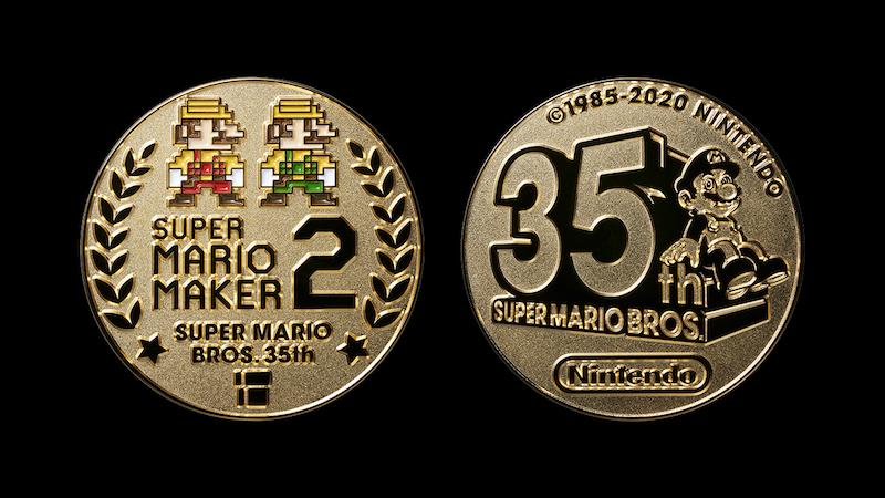 Super Mario 35th anniversary medal